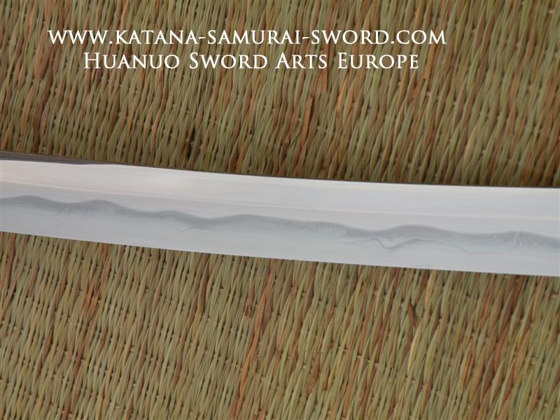 Tamahagane Silver Bamboo Katana, Huanuo,10
